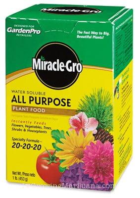 Miracle grow marijuana fertilizer