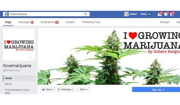 I Love Growing Marijuana Facebook Page
