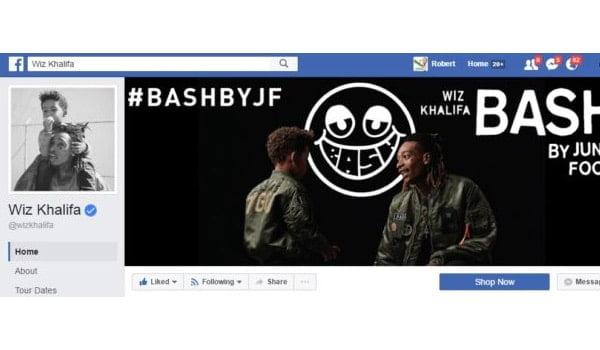 Wiz Khalifa Facebook Page