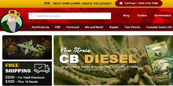 Crop King Seeds Website