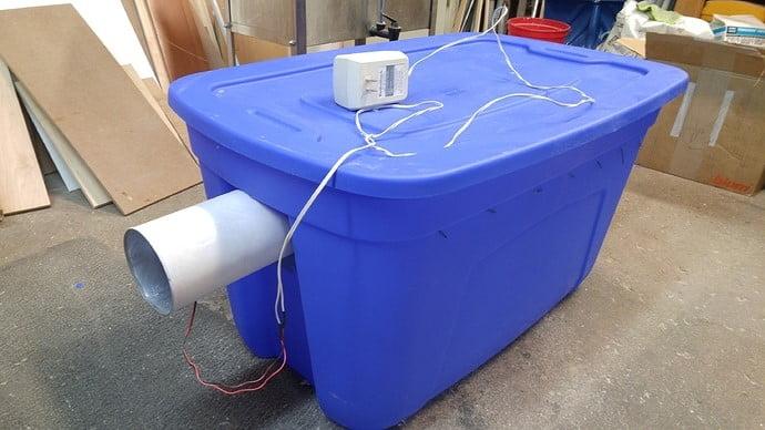 Home made drying bin