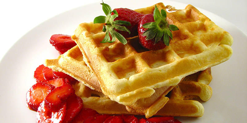 Delicious cannabis infused belgian waffles