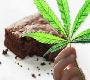 Desserts cannabis brownies