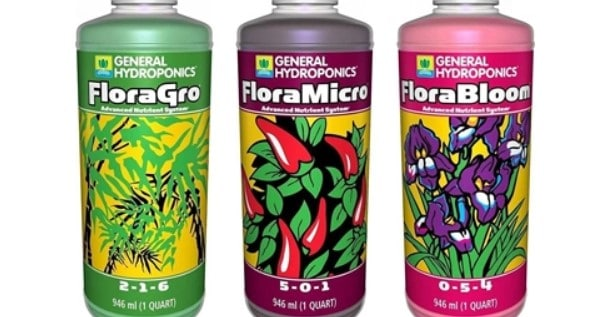 General Hydroponics Flora Serie - Grow, Micro and Bloom