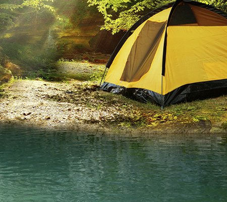Go camping while stoned