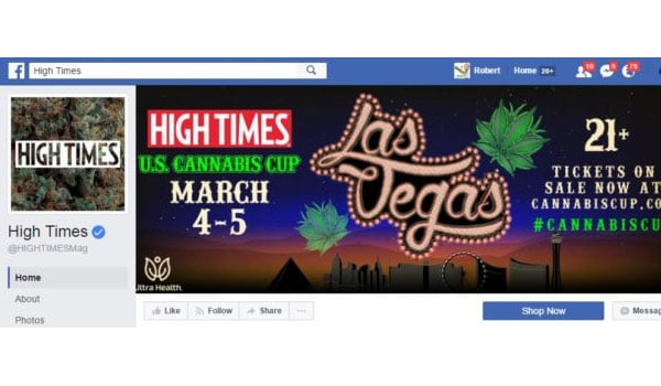 High Times Facebook Page