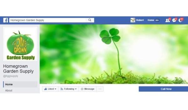 Homegrown Garden Supply Facebook Page