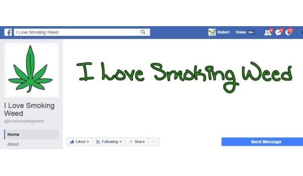 I Love Smoking Weed Facebook Page