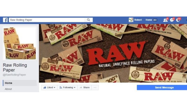 Raw Rolling Paper Facebook Page