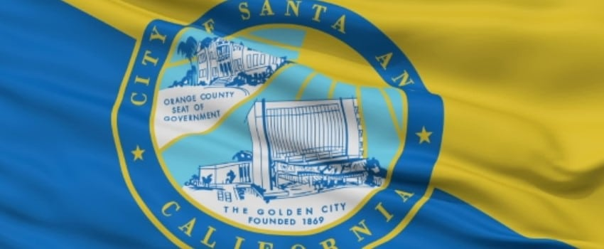 Santa Ana, a city in Orange County Flag