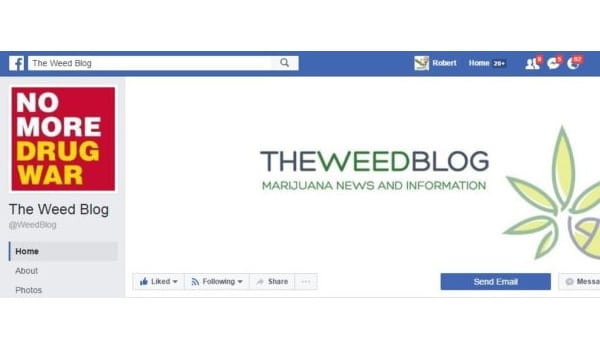 The Weed Blog Facebook Page