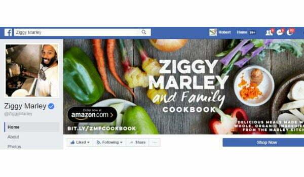 Ziggy Marley Facebook Page