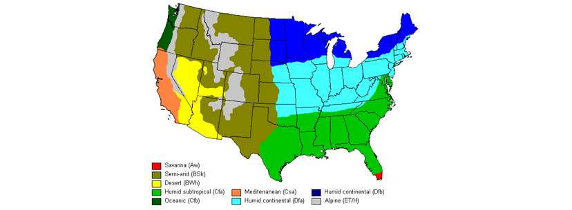 Different climate in USA cannabis growers