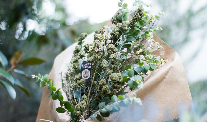 weed wedding bouquet
