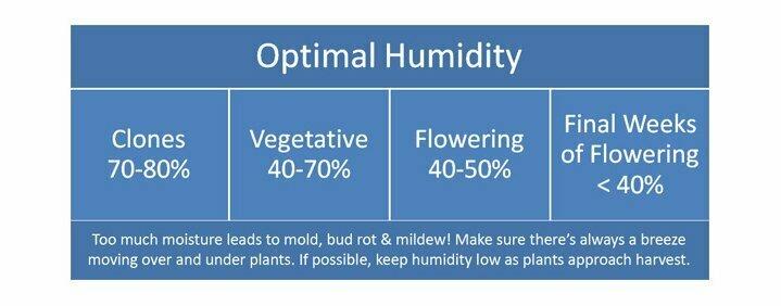 Optimal humidity