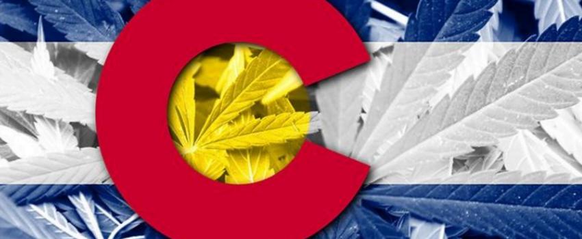 Colorado Flag with Marijuana