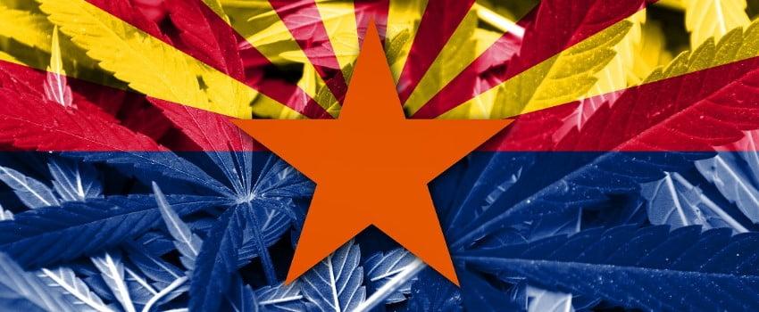 Arizona Flag with Marijuana