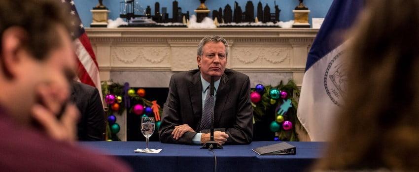 NY Mayor De Blasio