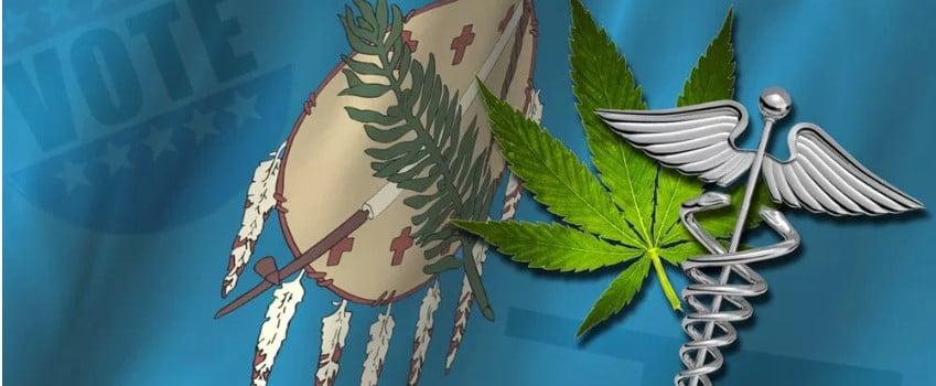 Oklahoma Flag with Marijuana